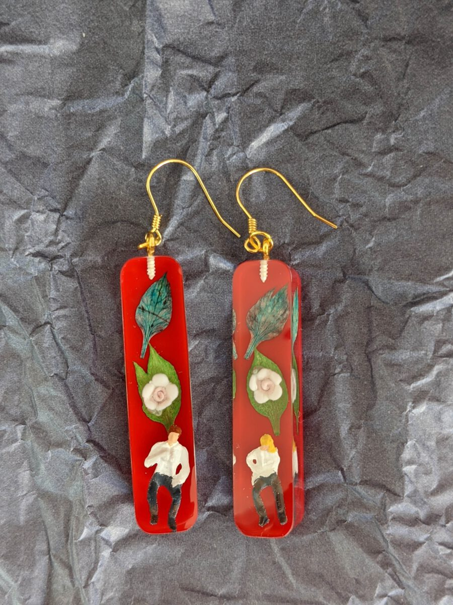 Handmade earrings-We are not that Mary