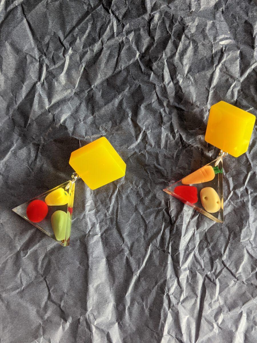 Handmade earrings-I love vegetables