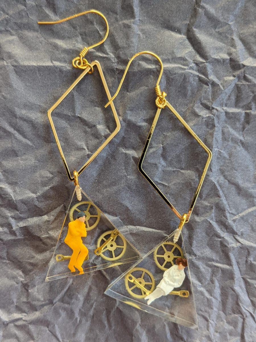 Handmade earrings-Time traveller